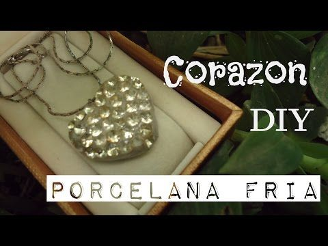 Porcelana Fria - Collar de corazon (DIY) - YouTube