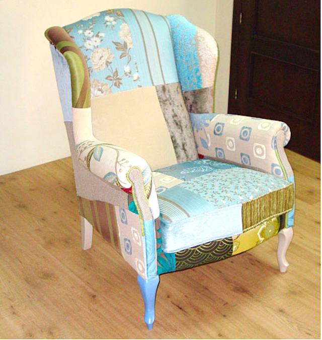 8 Muebles en color turquesa que alegran tu casa | Patchwork chair ...