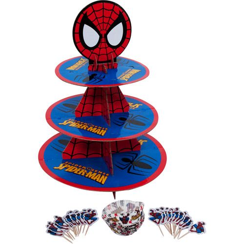 Spiderman Cupcake Kit 24 Cupcakes Only 8 At Walmart Kimberly Cawley Coons For Coopers Bday