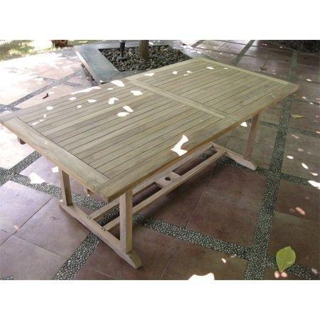 Ausziehbarer Teak Tisch Gartentisch 160 220 X 100 X 75 Cm