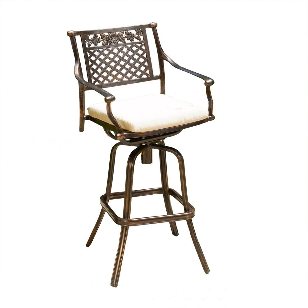 Phenomenal Noble House Sebastian Swivel Aluminum Outdoor Bar Stool With Andrewgaddart Wooden Chair Designs For Living Room Andrewgaddartcom