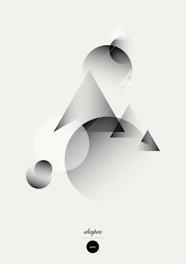 Shapes · Posters. by Alessandro Scarpellini, via Behance