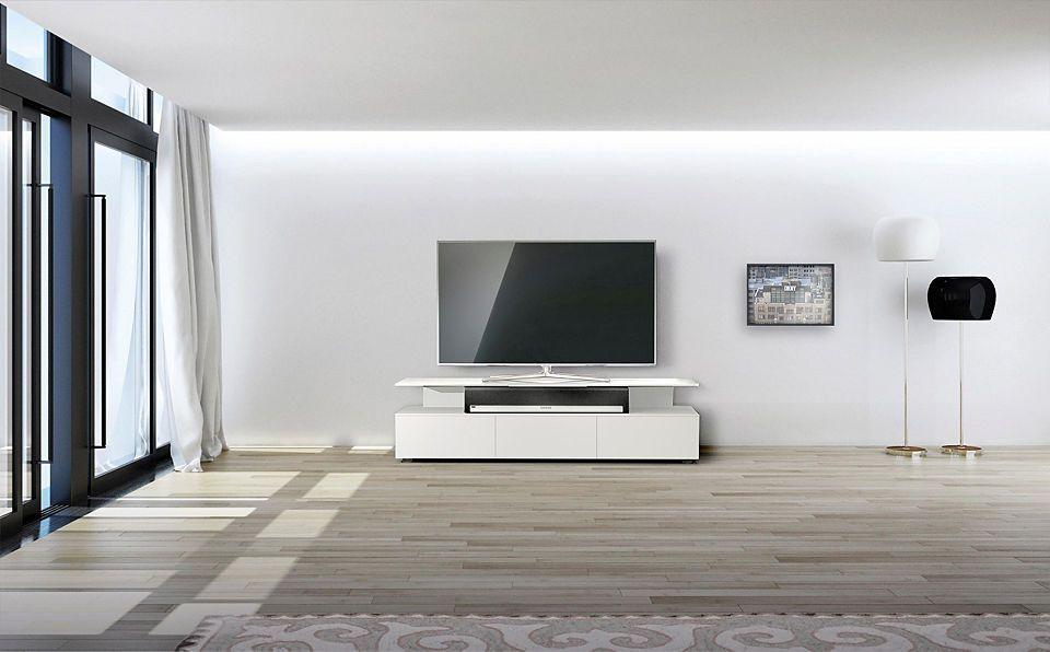 just-racks TV-Lowboard »JRM1650« mit schwebender Glasplatte - wohnzimmer tv möbel