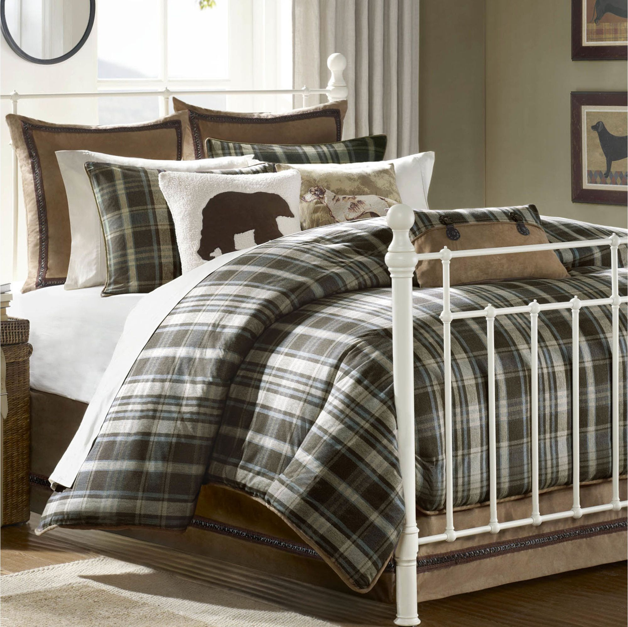 hadley rustic plaid comforter bedding woolrich twin sale find this ... : plaid comforters and quilts - Adamdwight.com