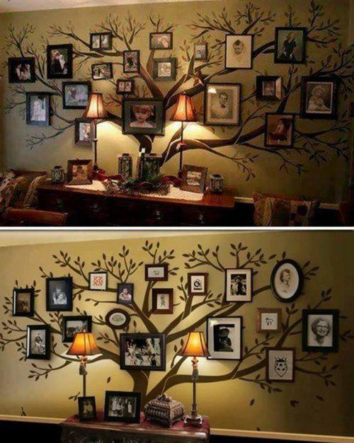 bastelideen und bastelmaterialien für sie familienstammbaum bilder, Wohnideen design