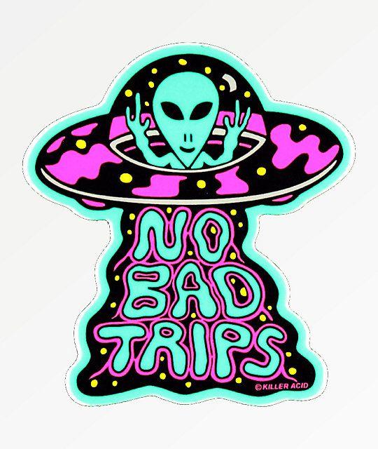 Photo of Killer Acid No Bad Trips Sticker   Zumiez