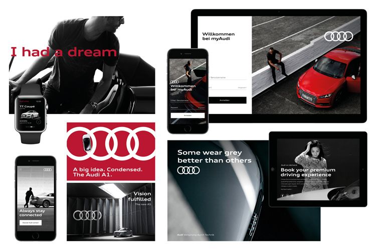 german car brand audi has refreshed its branding to enable users to rh pinterest com Best Brand Style Guides Brand Standards Manuals