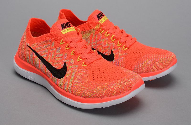 Nike Flyknit 4.0 Womens Running Shoes Orange Red,Nike Free 4.0 OnSale!  Flyknit,