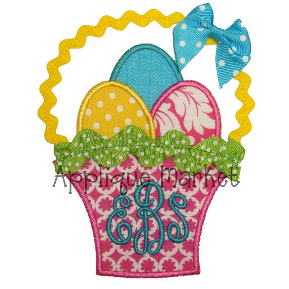 Machine Embroidery Design Applique Easter Basket by tmmdesigns, $4.00