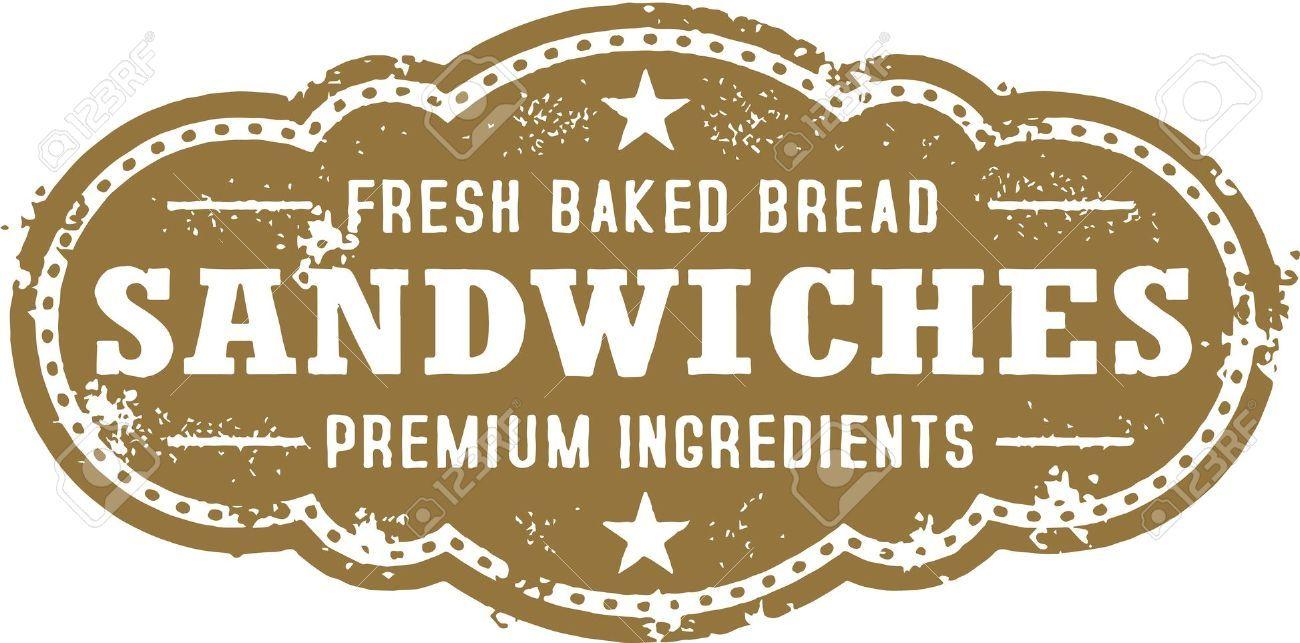 Vintage Deli Sandwich Sign Royalty Free Cliparts, Vectors, And ...