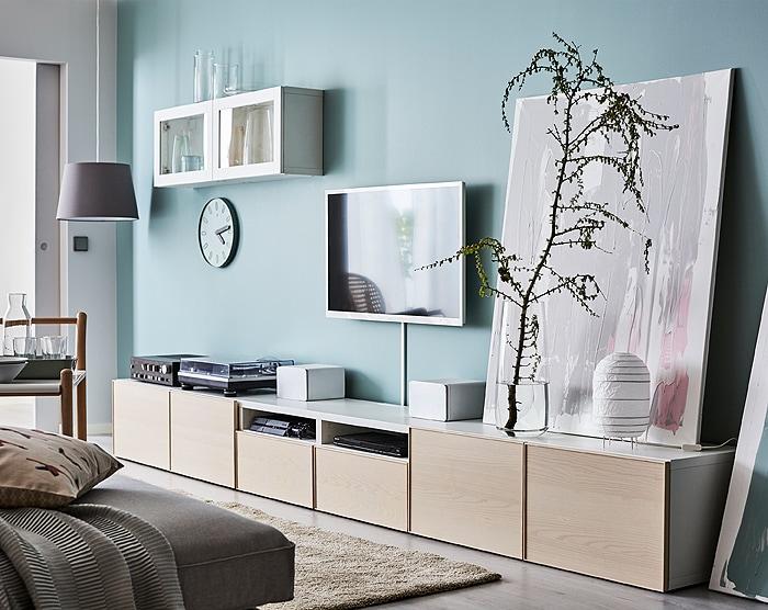bestÅ system  ikea  living room storage solutions