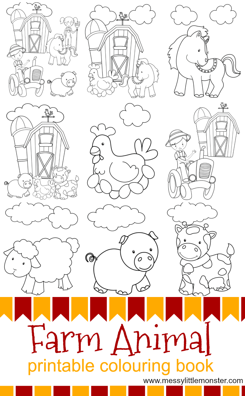 Farm Animal Printable Colouring Pages Farm Animal Coloring Pages Farm Coloring Pages Farm Animals Pictures