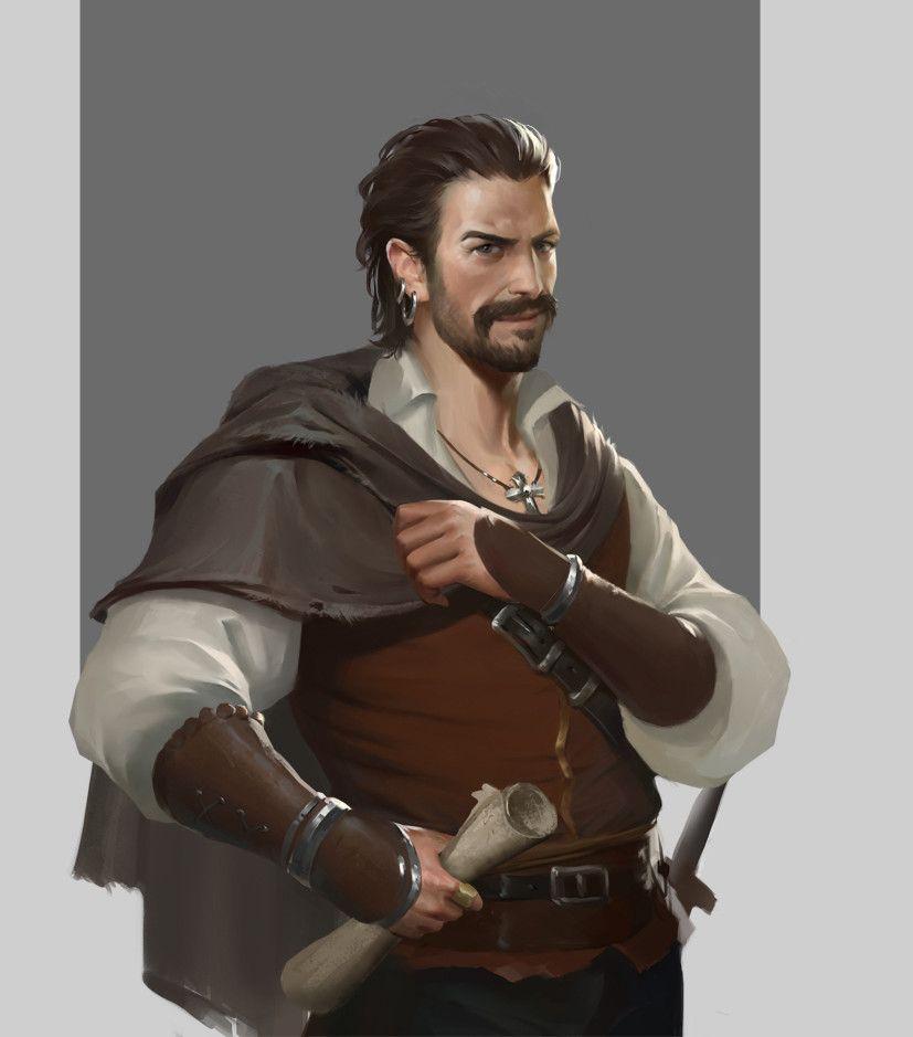Humano barba guerrero pícaro