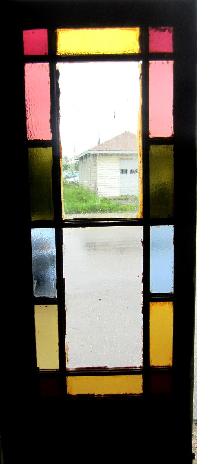 Nice Antique Stained Glass Door Queen Anne Architectural Salvage