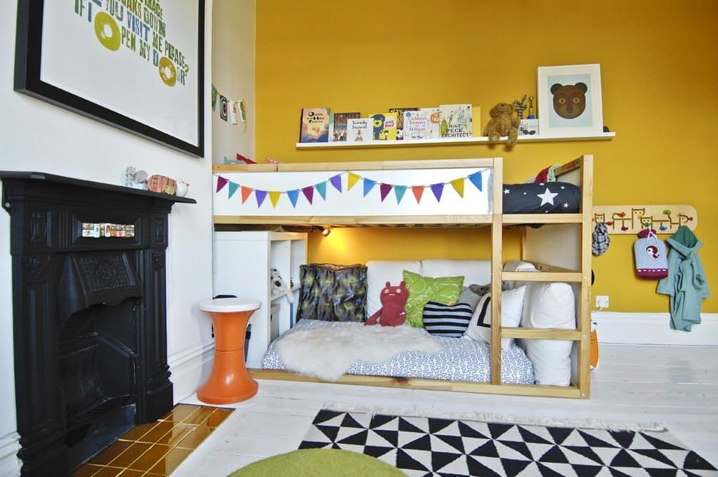 Kura For Two Using Ikea S Low Loft As A Bunk Bed New House Ideas