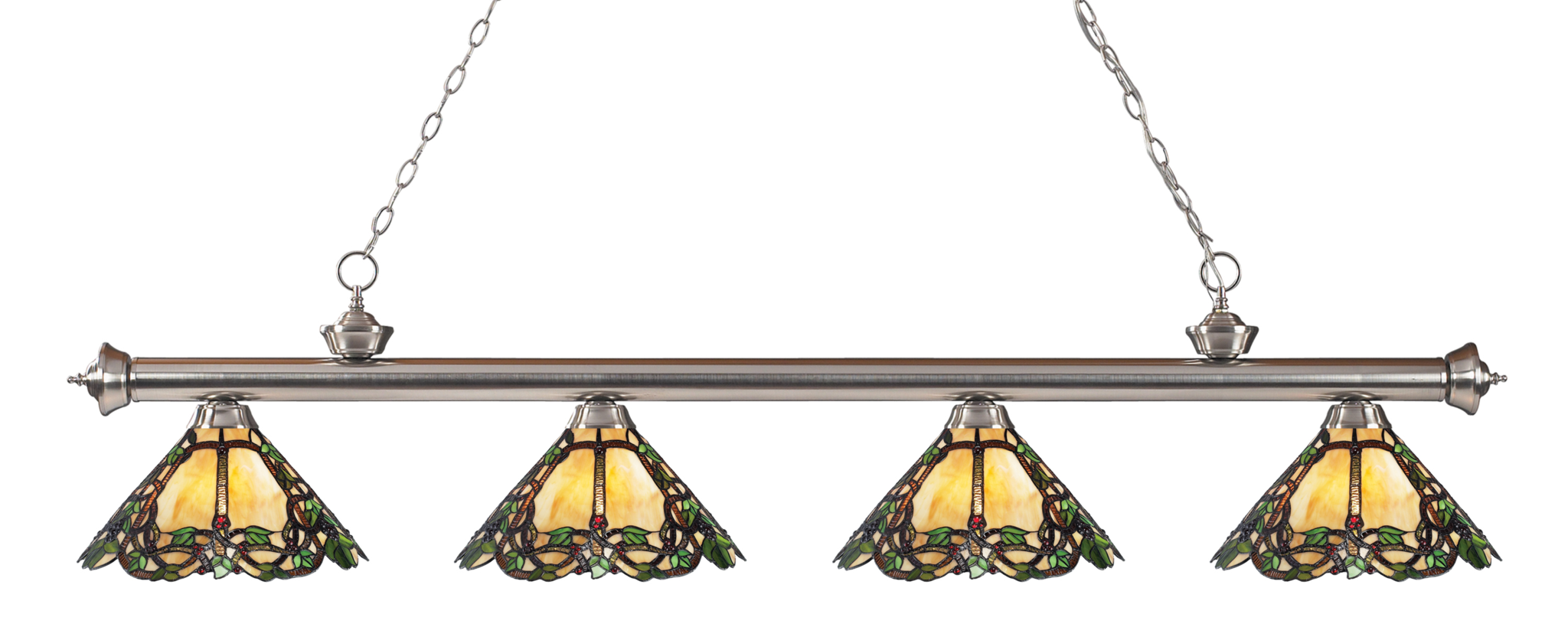 Z Lite Riviera 4 Light Billiard With Tiffany Glass Shades At Lowe S Canada Find Our Selection Of Pool Table Lights The T