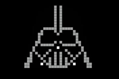 Darth Vader Pixel Art Pixel Art Star Wars Crafts Darth Vader