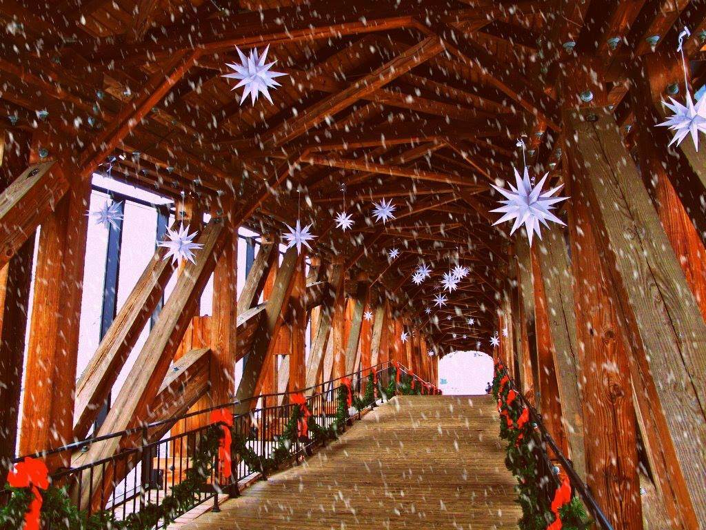 The Bridge at Old Salem While Snowing A star of promise, A star of ...