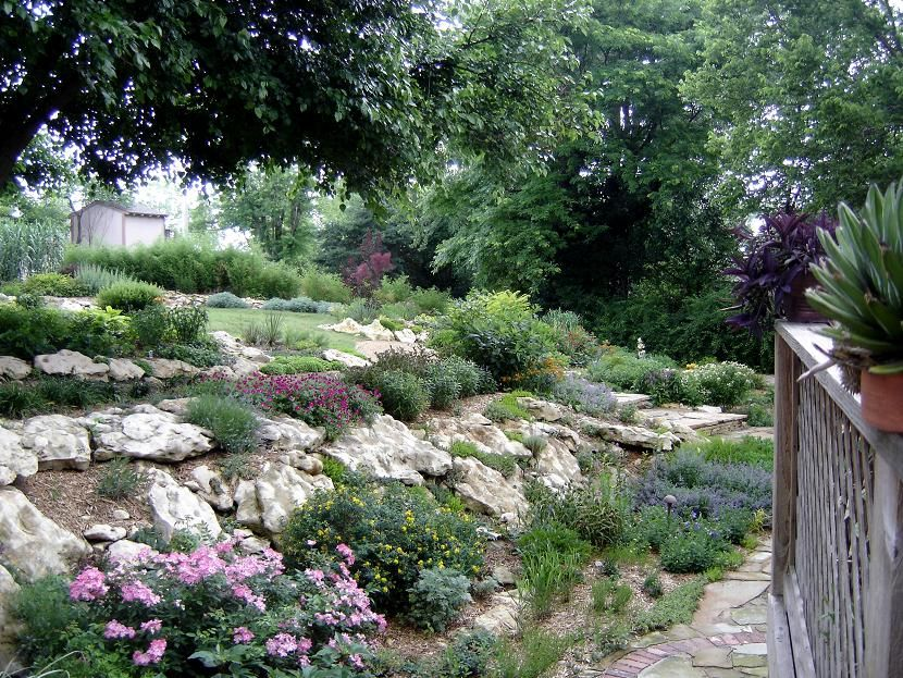 Landscape Landscape Hills Made To Look Around The Flower Garden Filled With Beautiful Hillside Landscaping Beautiful Gardens Landscape Landscaping With Rocks
