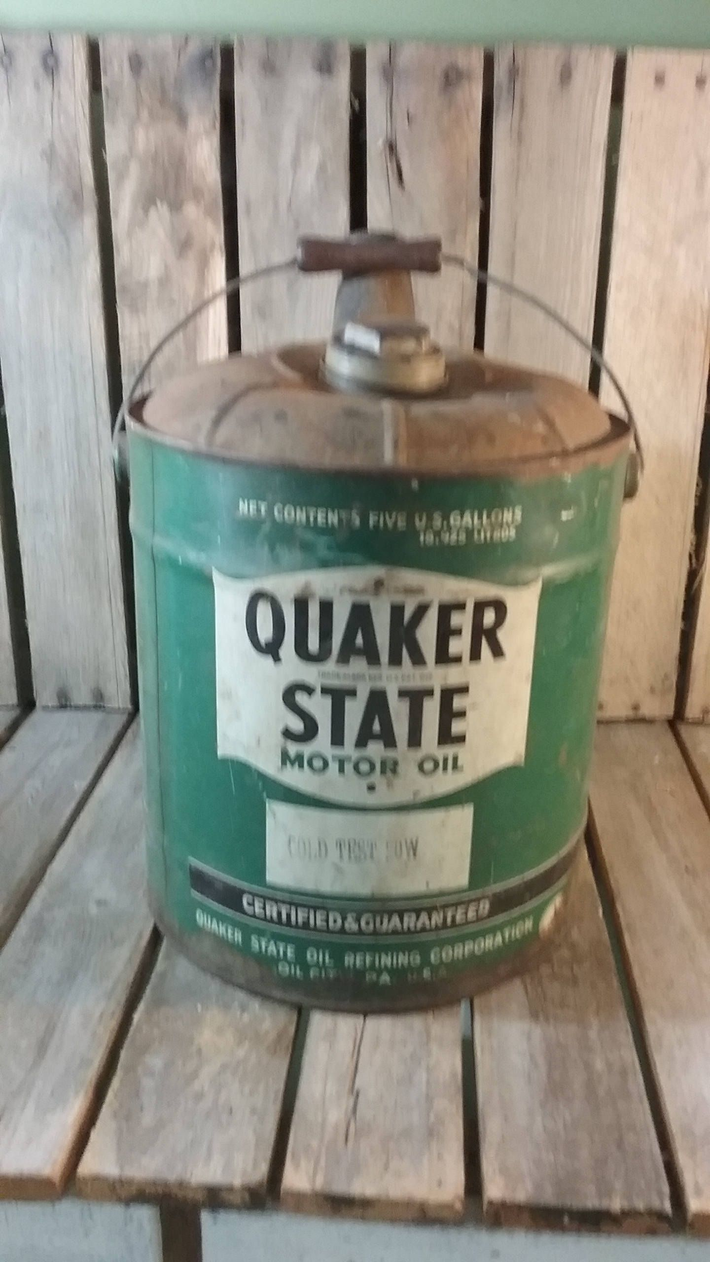 Quaker State Oil Can, Motor Oil Can, Vintage Oil Can
