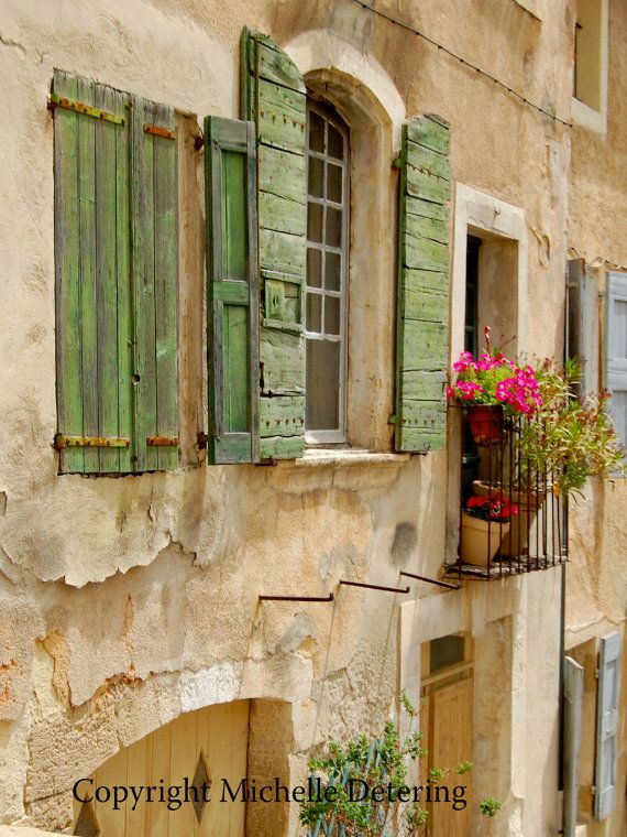 Provence Windows Digital Photography Window por BelleLuneArts