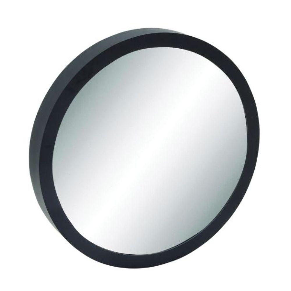 Benzara Wood 33-inch Diameter Vertical Wall Mirror (Black, Reflective)