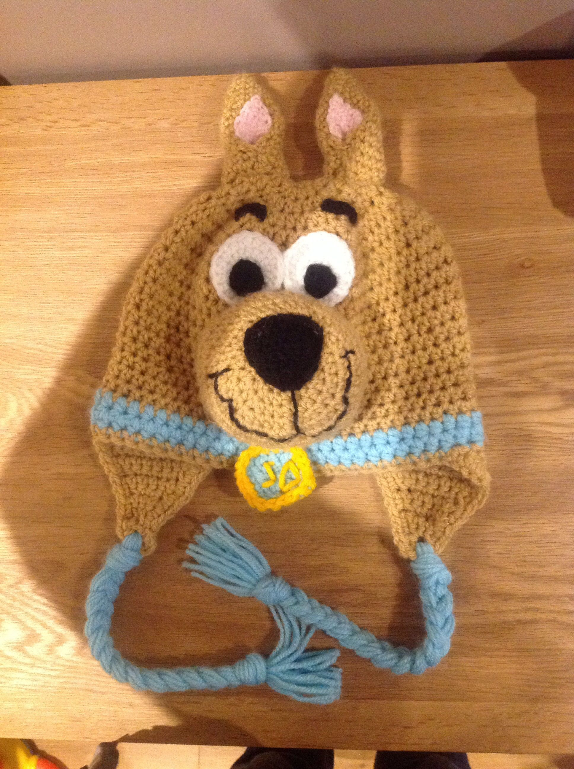 Scooby doo crochet hat | crochet | Pinterest | Kindermütze, Stricken ...