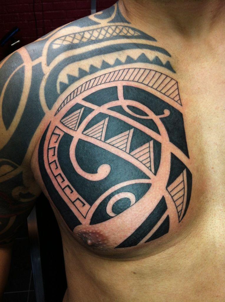 Uploaded From The Photobucket Iphone App Polynesiantattoos Tribal Tattoos Tattoos Chest Piece