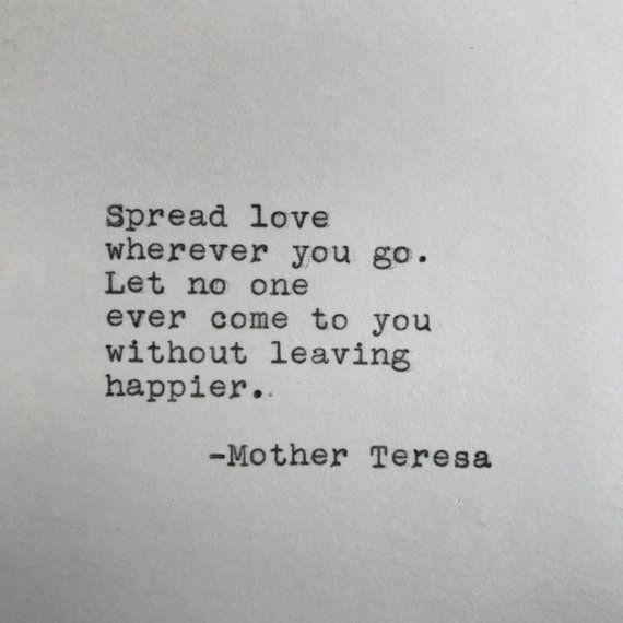 Mutter Teresa Liebeszitat geschrieben auf Schreibmaschine - Anna Kirchner - #auf #geschrieben #Liebeszitat #Mutter #Schreibmaschine #Teresa