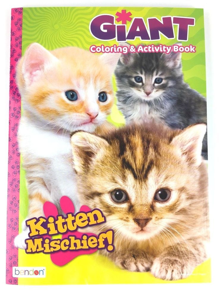Details about Kitten Mischief Giant Coloring & Activity Book for ...