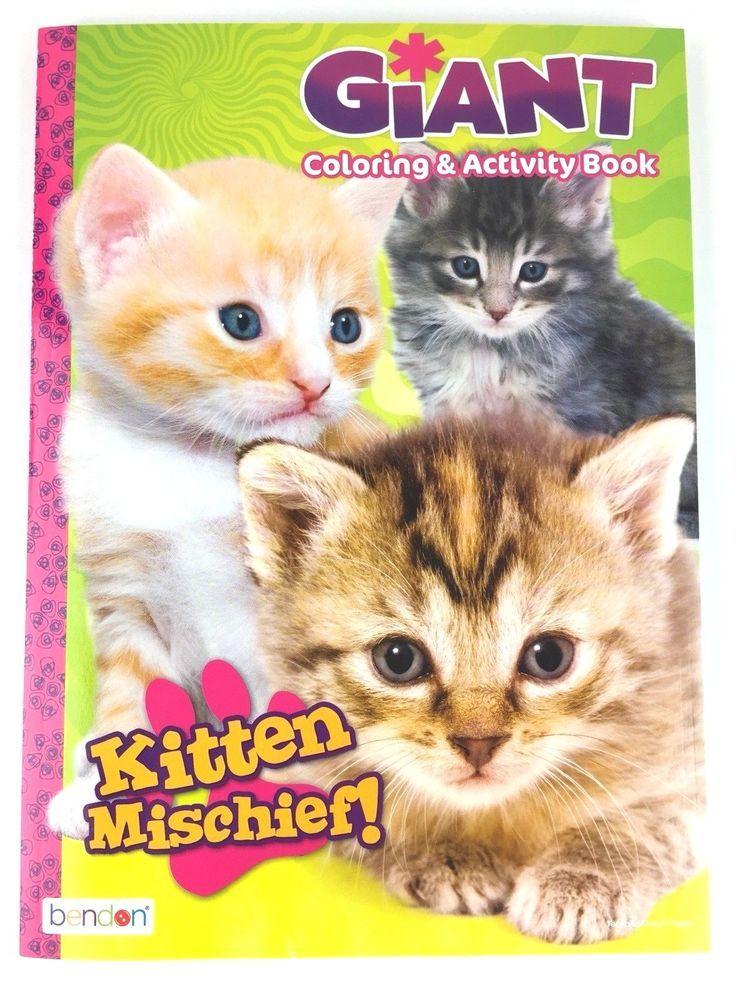 Kitten Mischief Giant Coloring Activity Book For Kids Cats