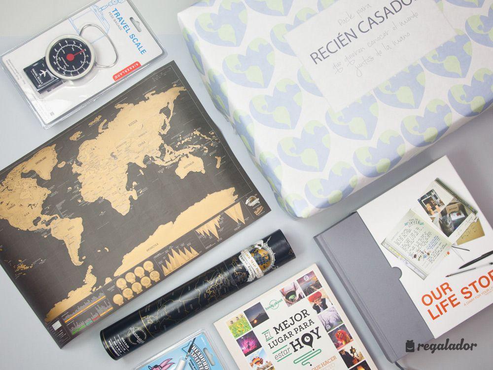 Pack de regalo para reci n casados viajeros regalos - Sorpresas para recien casados ...