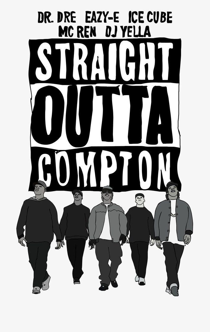 Straight Outta Compton By Moviestoldgood Hip Hop Artwork