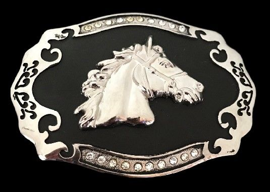 Womens Cowgirl Up Rodeo Western Horse Belt Buckle Silver Cowboy Rodeo