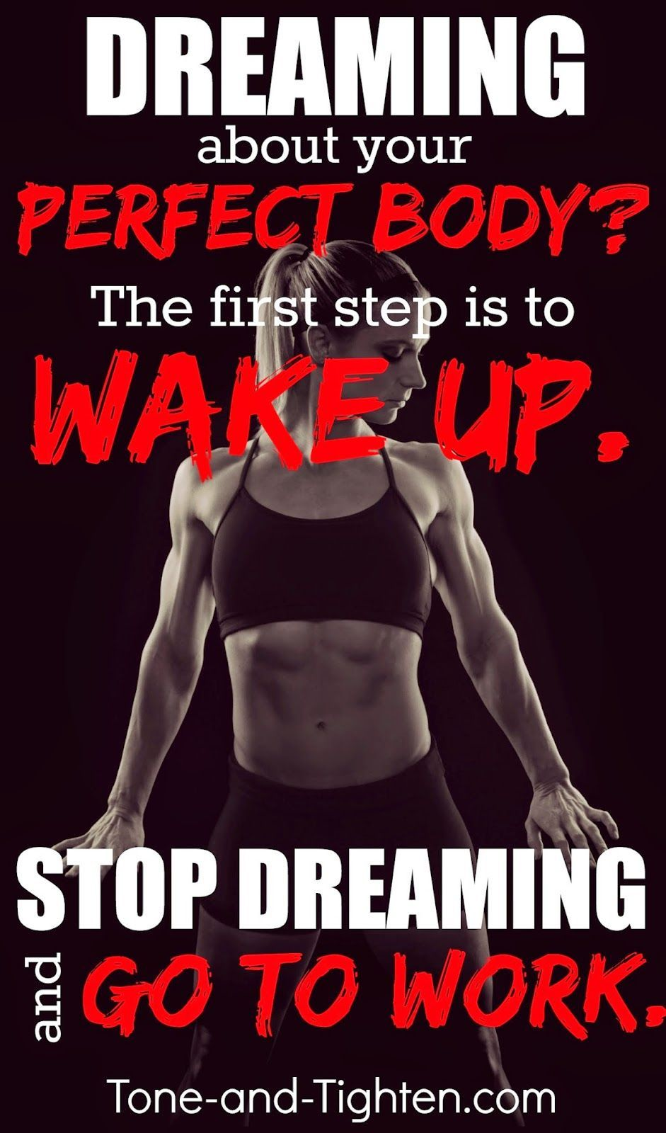 The quickest way to realize your dreams? First step is to wake up. Second is go to work. #fitness #m...