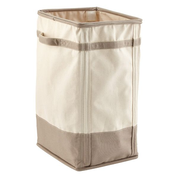 Natural Grey Canvas Laundry Hamper The Container Store