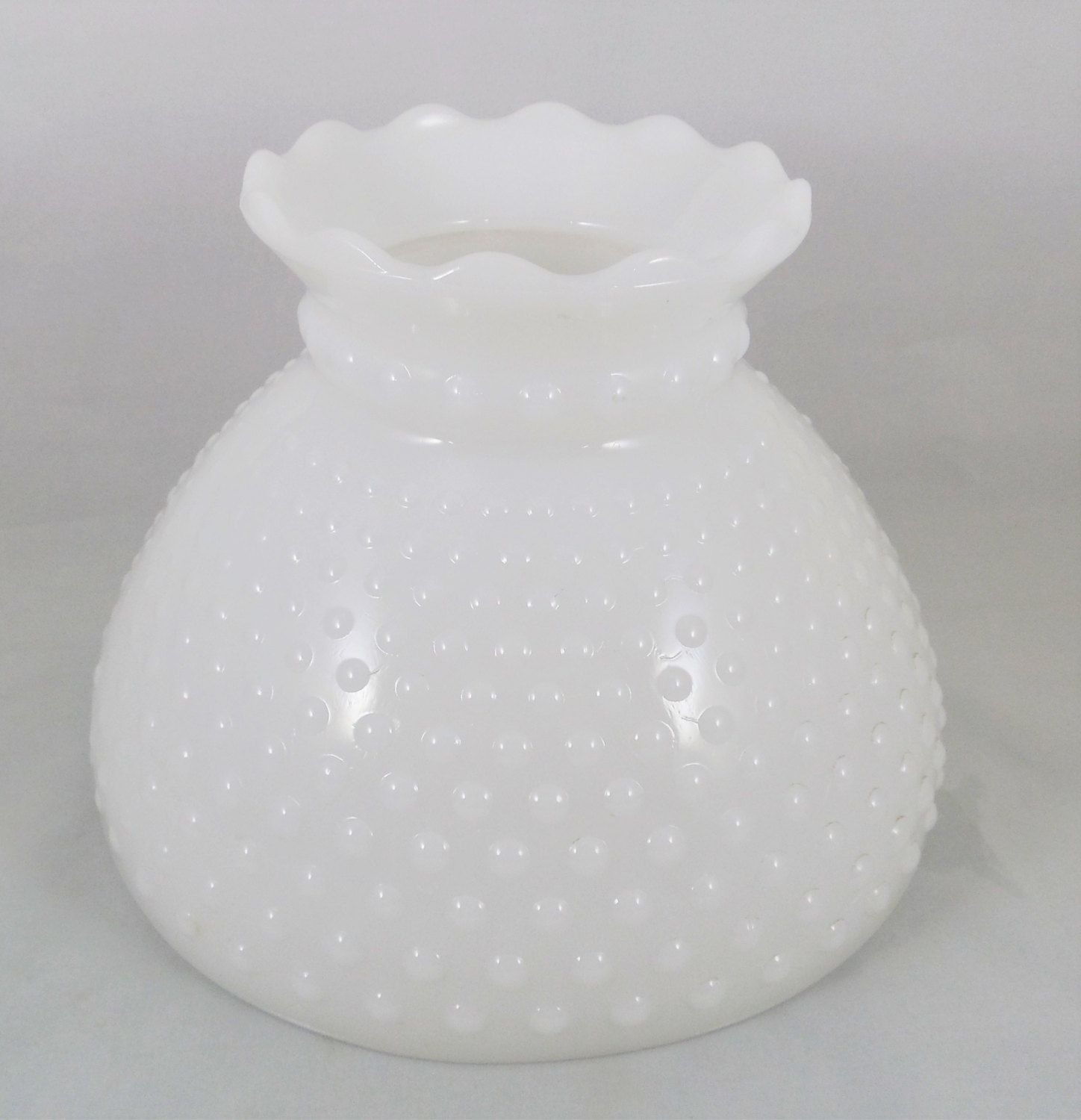 Milk glass hobnail lampshade 8 fitter vintage student style glass milk glass hobnail lampshade 8 fitter vintage student style glass lamp shade replacement mozeypictures Image collections