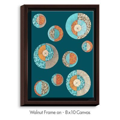 DiaNocheDesigns 'Circles MCM II' by Valerie Lorimer Graphic Art on Wrapped Framed Canvas