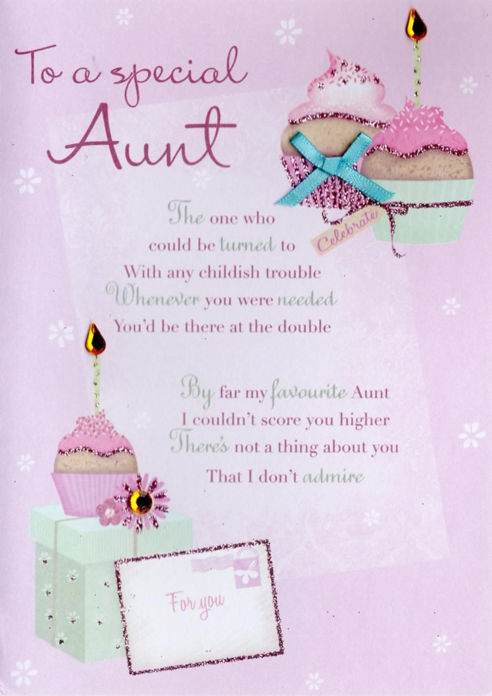 Special Aunt Birthday Greeting Card Greetings Blessings