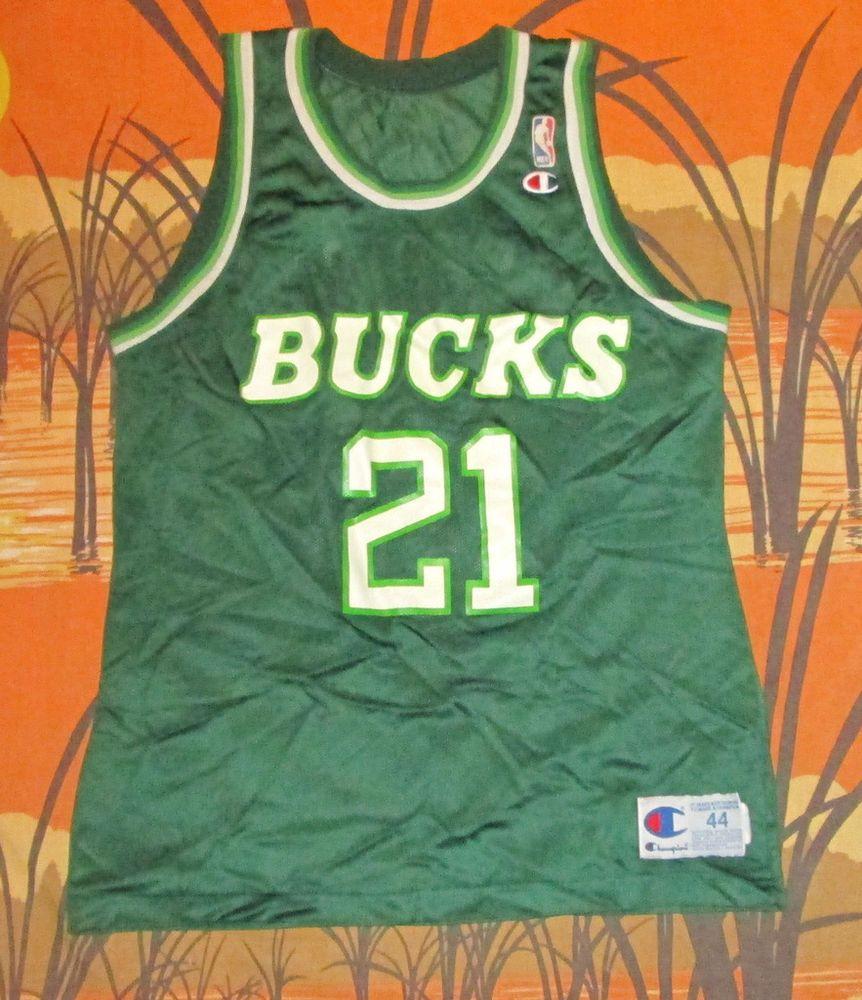 Vtg Champion Milwaukee Bucks Alvin Robertson NBA Basketball Team