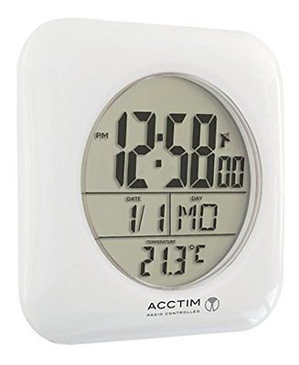 Acctim Fusion Radio Controlled Msf Signal Wall Mounted Water Resistant Bathroo View Bathroom Clocksradio
