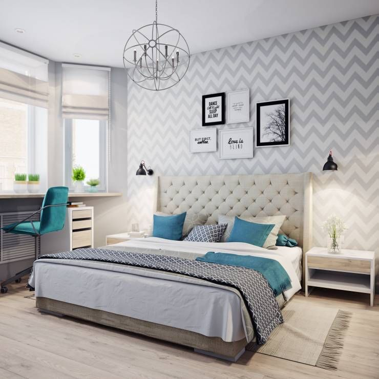 Скандинавський стиль в інтер'єрі спальні