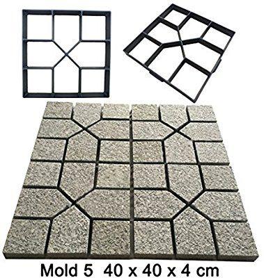 Magideal Betonform Schalungsform Gießform Polypropylen Kunststoff