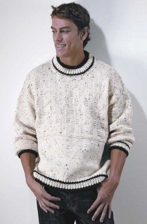 32150cfb9ac6a4 Easy Crewneck Pullover - great looking sweater - stylish - KNIT - free  pattern -