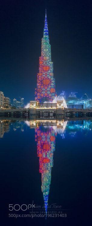 Colorful Burj Khalifa by JavierLt