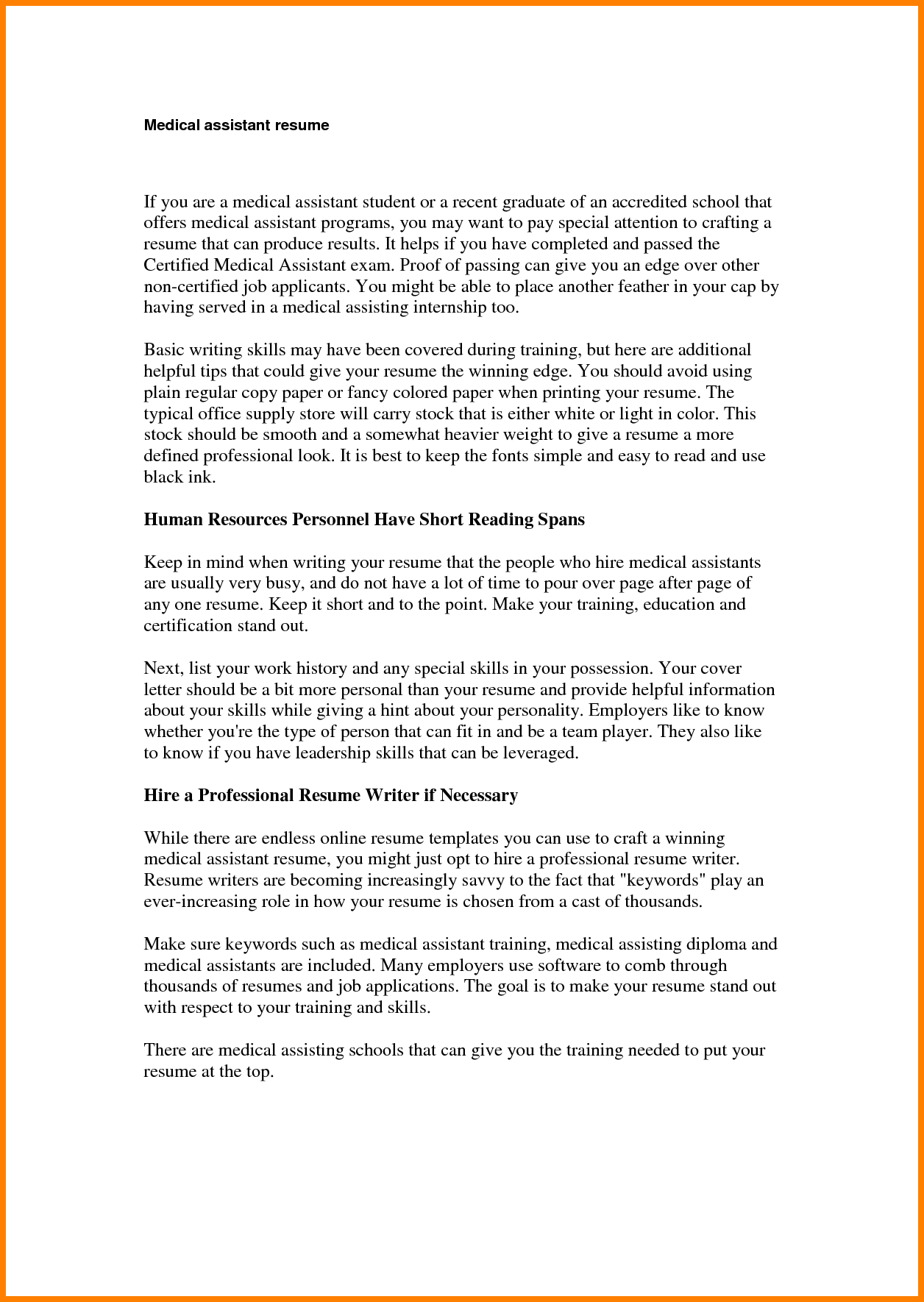 Simple Resume Examples Sample Work History Example For Year Olds Made Simple Short Resume
