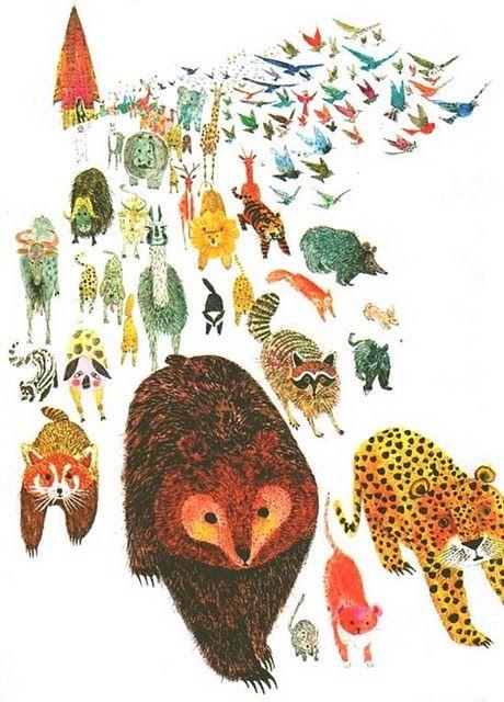 Brian Wildsmith via the picture book illustration blog