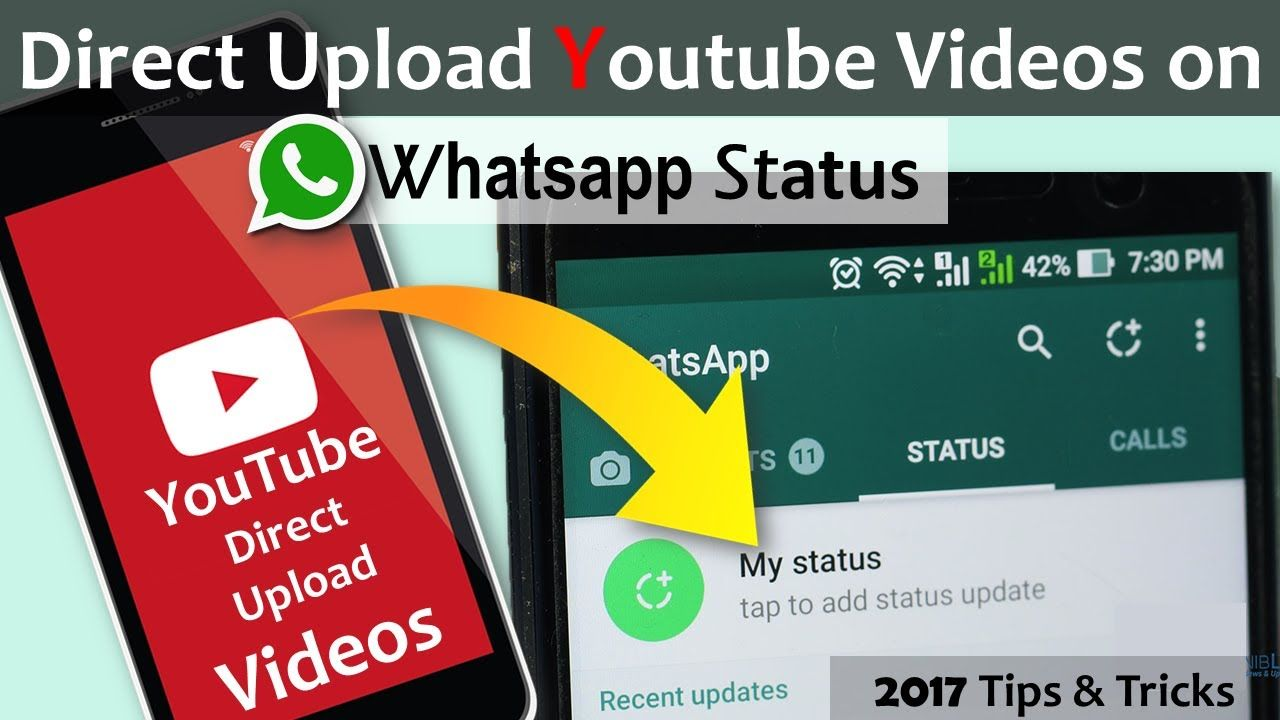 Direct upload Youtube Videos on Whatsapp Status (Story