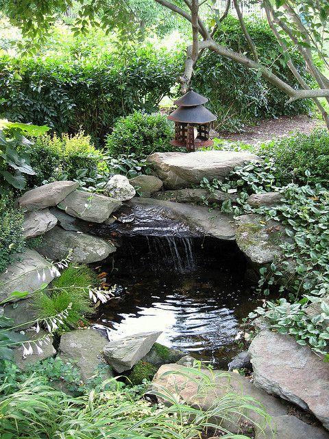 Sound  Sight - Waterfall  Pond 2 Landscape Backyard Pinterest - estanques artificiales