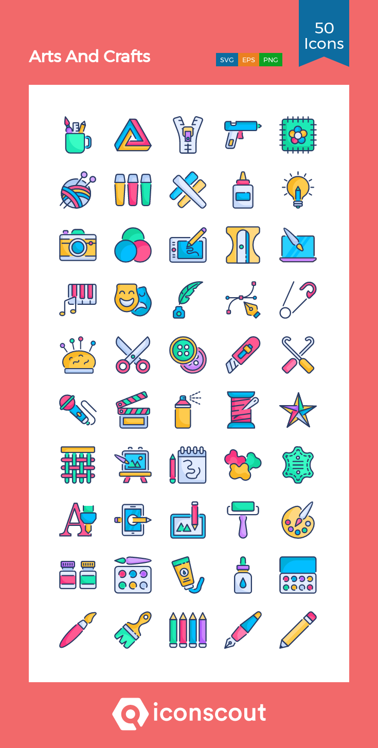 Download Arts And Crafts Icon Pack Available In Svg Png Eps Ai Icon Fonts Arts And Crafts Icon Icon Pack